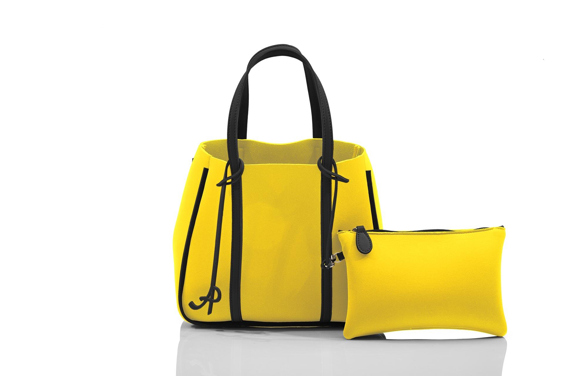 29c6c142ff4d19 Open shopper basic woman with clutch zip yellow black artpelle jpg  1920x1281 Woman open zip