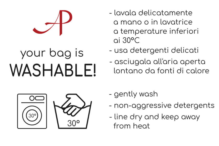 Washing instructions: beacuse your bag is washable!
