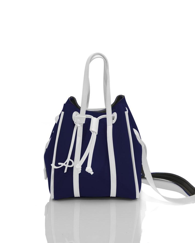 Secchiello è una borsa in materiale effetto neoprene della linea BASIC di AP bag - by Artpelle