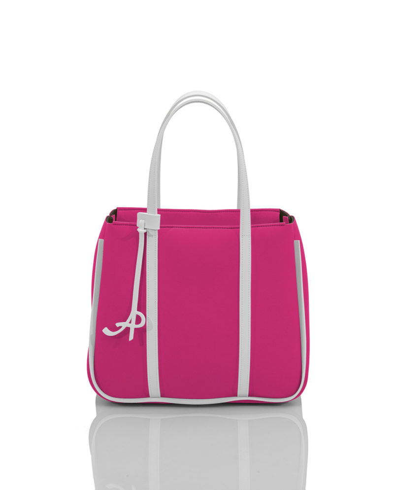 Small Shopper è una borsa da donna in materiale effetto neoprene della linea BASIC di AP bag - by Artpelle