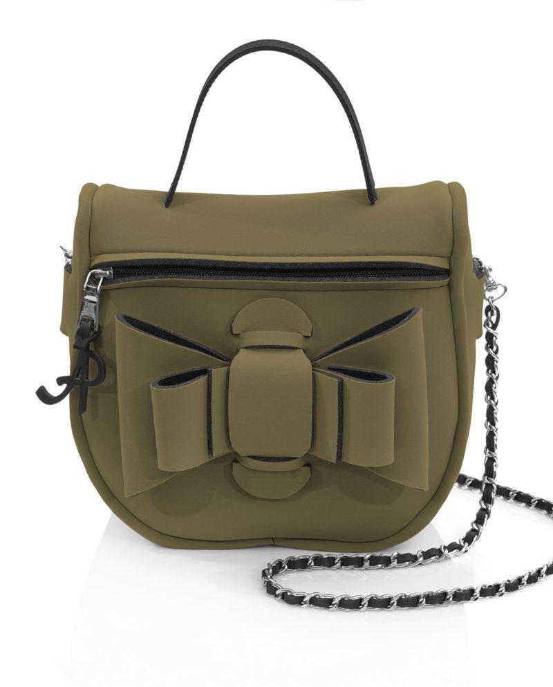 Bauletto Chérie è una borsetta in materiale effetto neoprene della linea Chérie di AP bag - by Artpelle