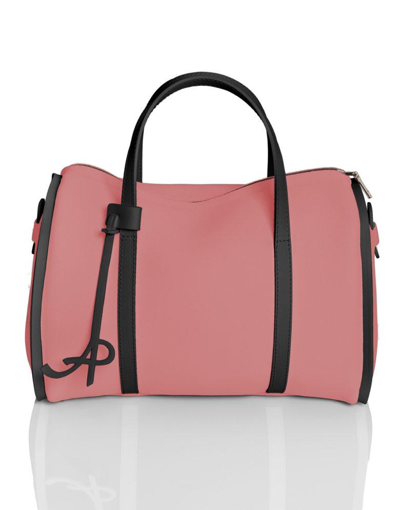 Bauletto è una borsa in materiale effetto neoprene della linea BASIC di AP bag - by Artpelle