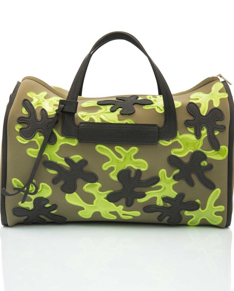 Baulotto è una borsa in materiale effetto neoprene della linea Truffle di AP bag - by Artpelle