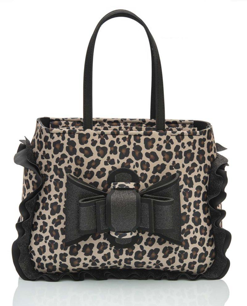 Shopper è una borsa da donna in materiale effetto neoprene della linea Leo Chérie di AP bag - by Artpelle
