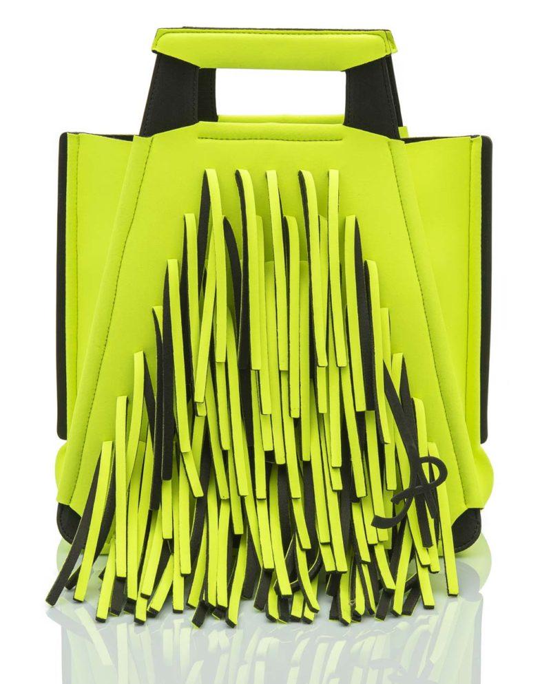 Shopper Slim è una borsa in materiale effetto neoprene della linea BIG BANG di AP bag - by Artpelle