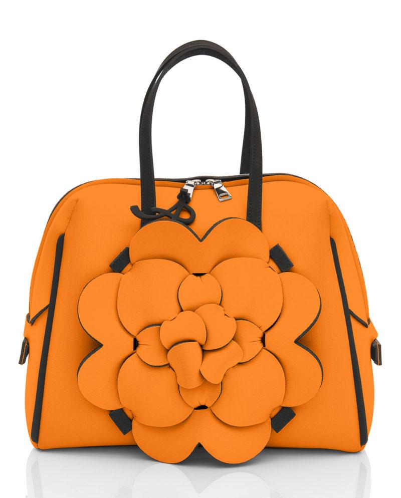 Bauloshopping è una borsa in materiale effetto neoprene della linea DALÌ di AP bag - by Artpelle