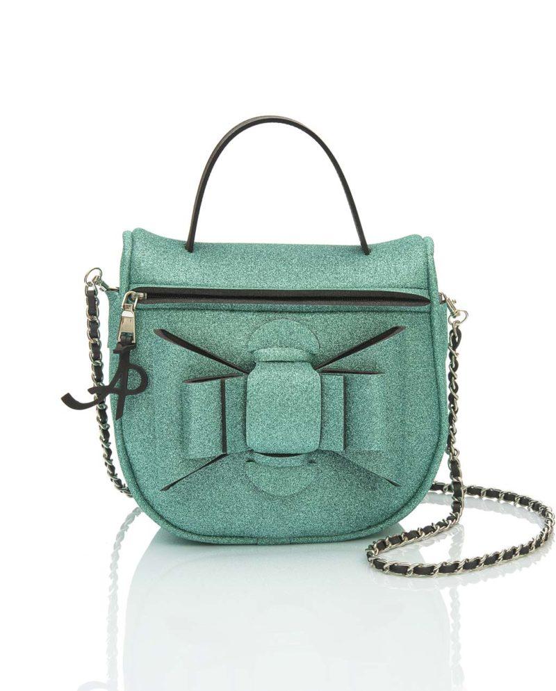 Bauletto è una borsetta in materiale effetto neoprene della linea Super Chérie di AP bag - by Artpelle