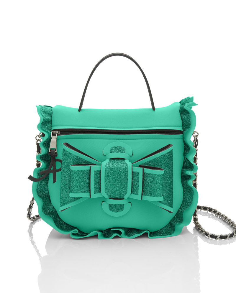 Bauletto Chérie è una borsetta in materiale effetto neoprene della linea Lumière Chérie di AP bag - by Artpelle