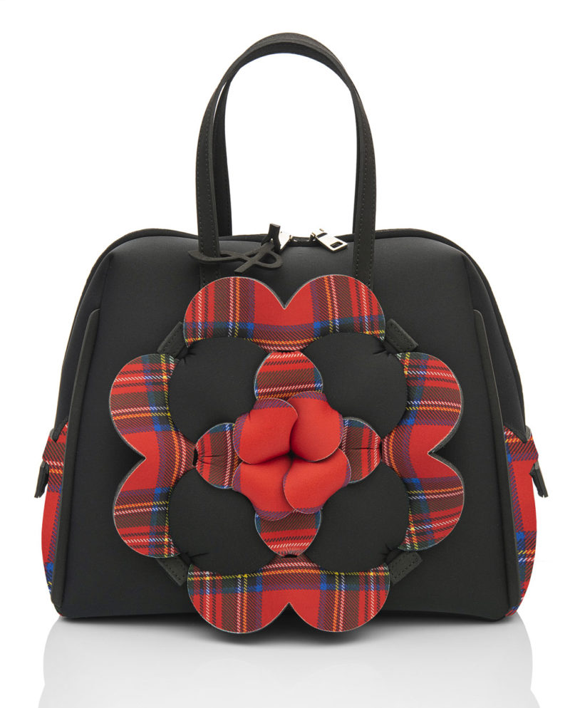 Bauloshopping è una borsa in materiale effetto neoprene della linea DALÌ LONDON di AP bag - by Artpelle