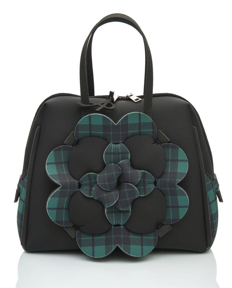 Bauloshopping è una borsa in materiale effetto neoprene della linea DALÌ LONDON di AP bag - by Artpelle